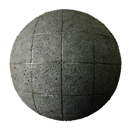 Thumbnail: Mossy Stucco Tile PBR Texture Seamless