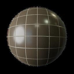 Thumbnail: Brown tiles matte