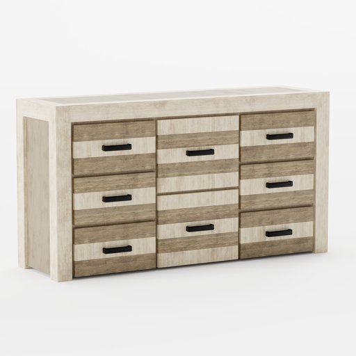 Thumbnail: Recycled Wood Chest Of Drawers