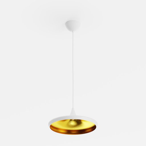 Dixon Beat Wide Pendant White