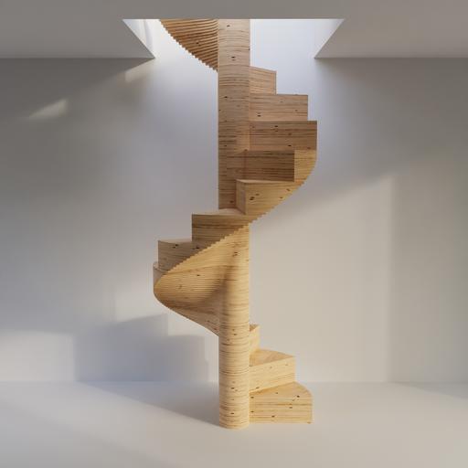 Thumbnail: Spiral Plywood Staircase