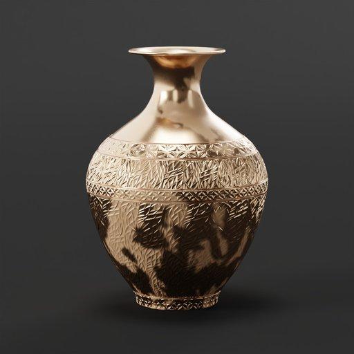 Thumbnail: Metal vase