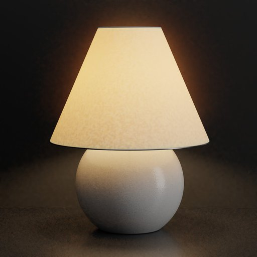 Thumbnail: White bedsie lamp with warm light