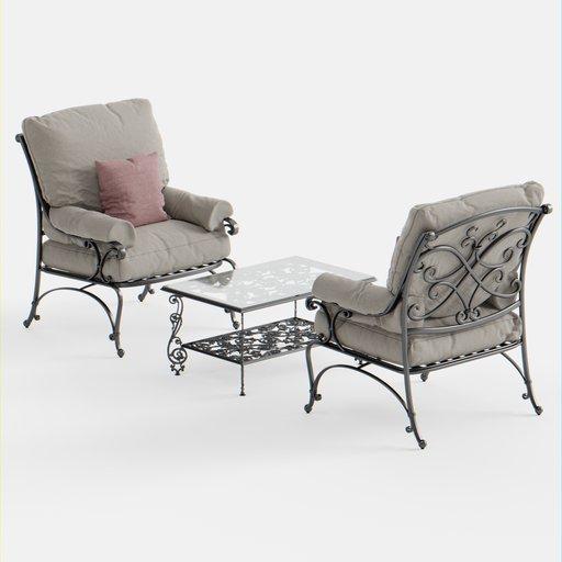 Thumbnail: Outdoor Armchair Seating Set