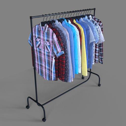 18 shirts on a hanger