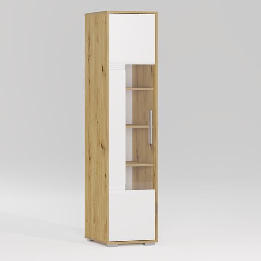 Thumbnail: ROMA Glass door bookcase 1D L
