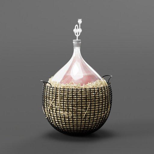 Thumbnail: Glass balloon for wine