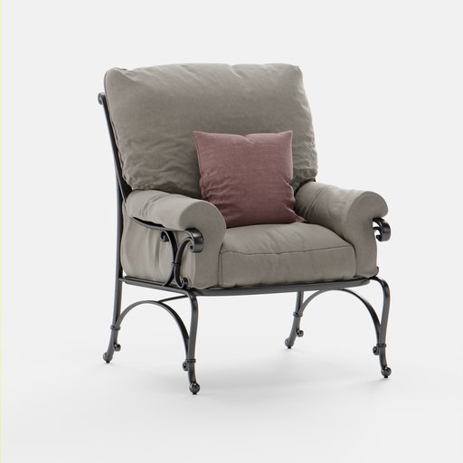 Thumbnail: Outdoor Armchair with longpillows