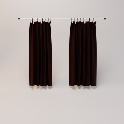 Curtain coffee brown