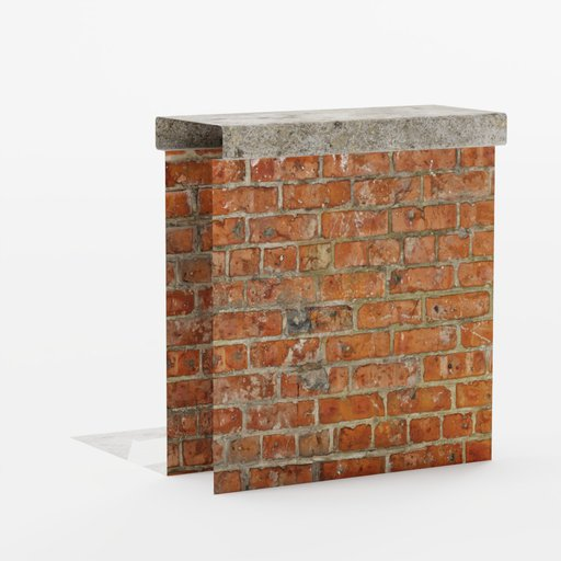 Brick wall roof end 1x1