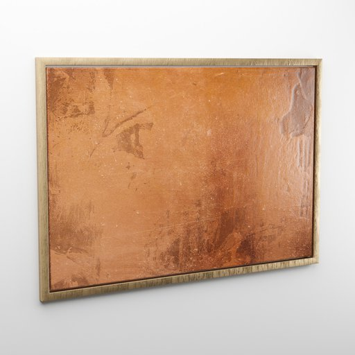 Thumbnail: Modern abstract painting with wooden frame
