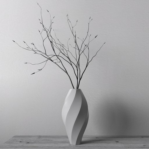 Thumbnail: Decorative vase with branches