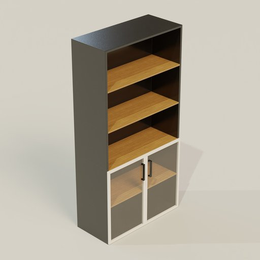 Thumbnail: Cupboard 900  450 1800 mm Half Glass Door