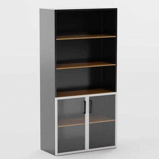 Cupboard 900  450 1800 mm Half Glass Door