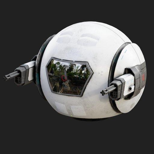 Sci-fi Droid Robot