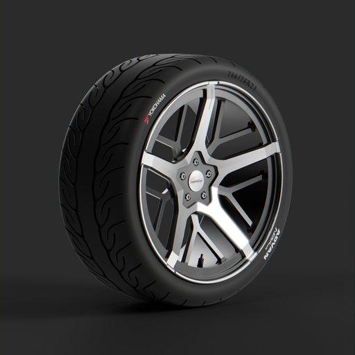 Thumbnail: Car tires, Speedline corse / Yokohama ADVAN
