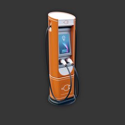 Thumbnail: Electric Vehicle Charging Station (orange variant)