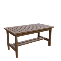 Thumbnail: Wooden coffee table