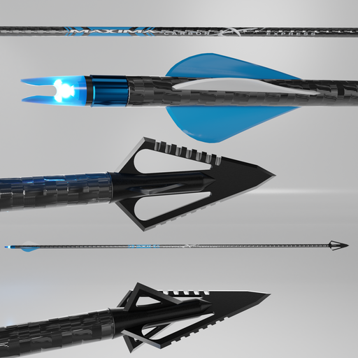 Hunting Arrow-Maxima-carbon express blue