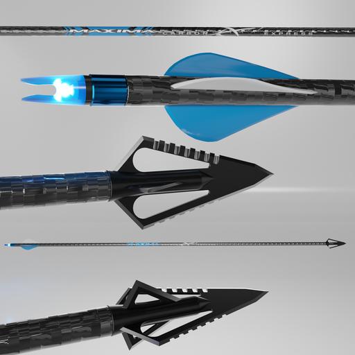 Thumbnail: Hunting Arrow-Maxima-carbon express blue