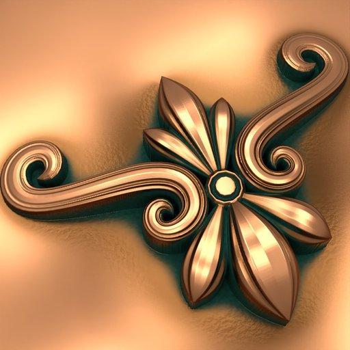 Flower Y Shape Baroque Ornamental