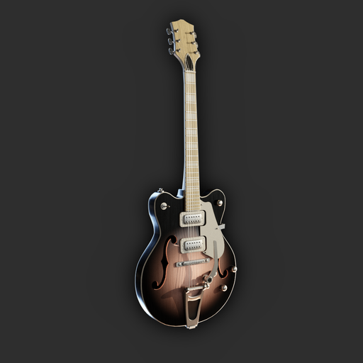 Thumbnail: Hollowbody Electrig Guitar (sunburst variant)