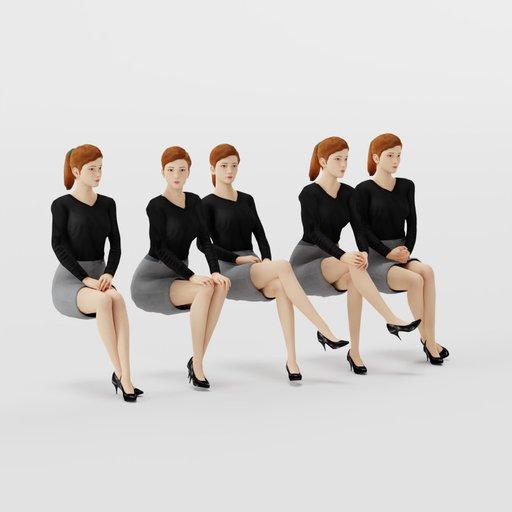 Thumbnail: Woman Casual Sit Pose 1