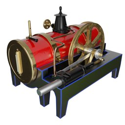 Thumbnail: Bing Steam Engine Toy 19th Century