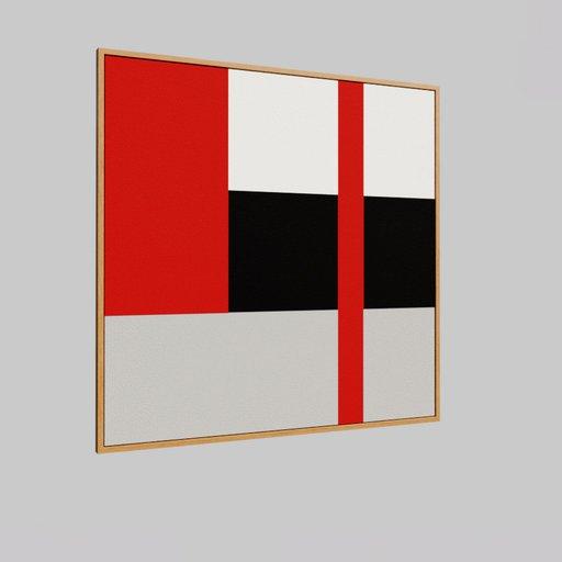Framed modern painting 2