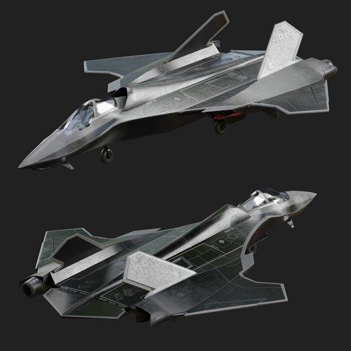 MSF-33 mutirole fighter futiristic jet