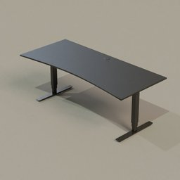 Thumbnail: Office Collection 01 PC Table (Black)