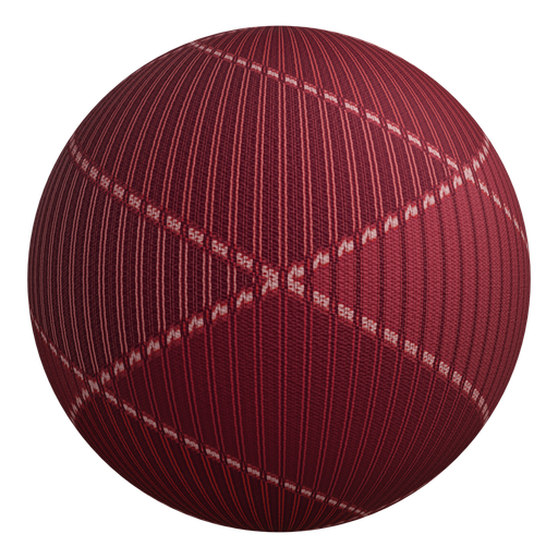 Procedural Red Fabric Pattern