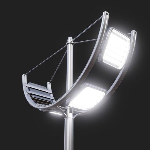 Thumbnail: Modern Street Lamp (tall) #05