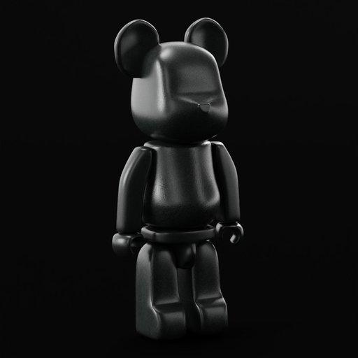 Thumbnail: Metalic BearBrick Figurine 1M