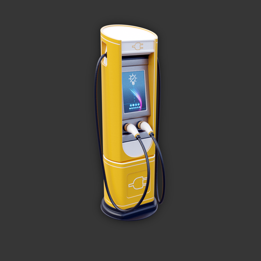 Thumbnail: Electric Vehicle Charging Station (yellow variant)