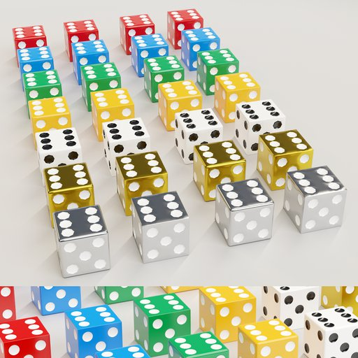 Thumbnail: Low poly dice collection