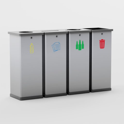Thumbnail: Stainless Steel Recycle Bin