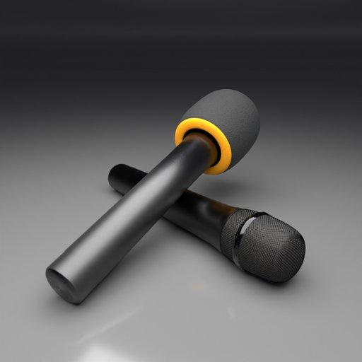 Dynamic Microphone with Foam