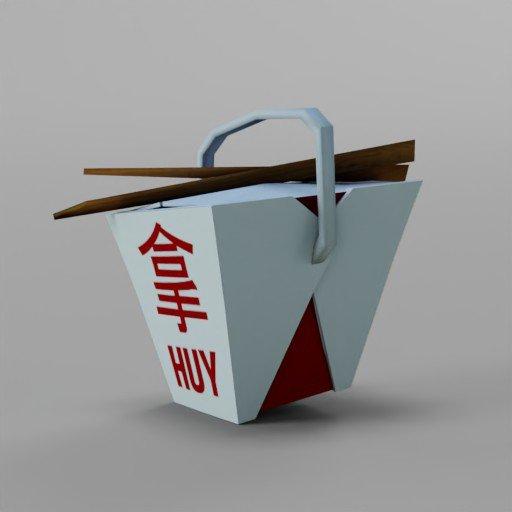 Thumbnail: Low Poly Noodle Box
