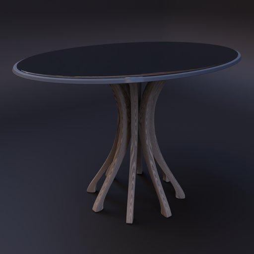 Thumbnail: Mesa com vidro - table