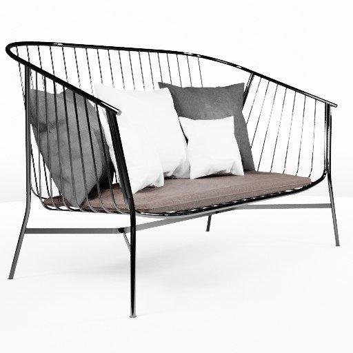Thumbnail: Steel Small Sofa1