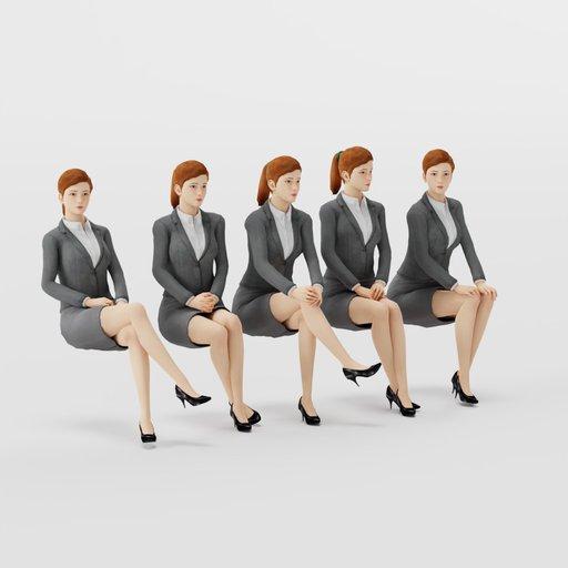 Thumbnail: Woman Formal Sit Pose 1