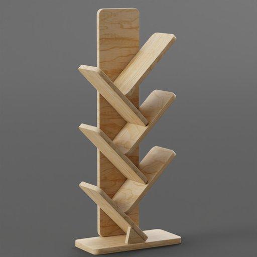 Thumbnail: Wooden Standing Book Shelf