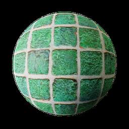Thumbnail: Green old tiles