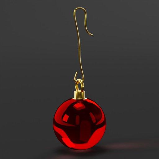 Thumbnail: Christmas ball red