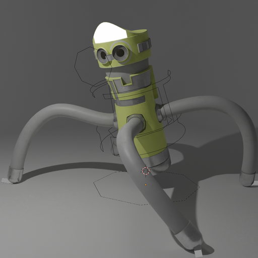 Thumbnail: Cylindrical robot - riiged+animated