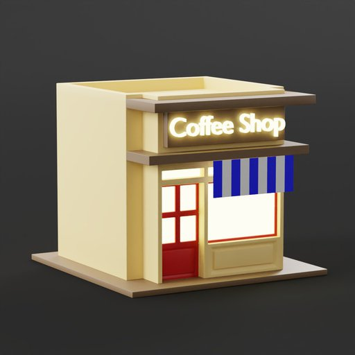 Thumbnail: Coffee Shop 3d graphic illustration