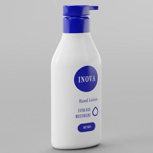 Hand Lotion Blue Label White Bottle