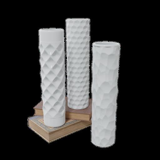 Rustic book ceramic vases
