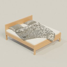Thumbnail: Wooden bed - beech